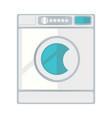 white laundry machine vector image