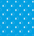 thumbs up pattern seamless blue vector image