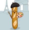 French Bread vector image