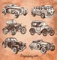 set of retro-cars vector image