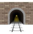 railway tunnel 02 vector image vector image