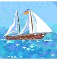 Sailboat Love And Romantic vector image