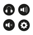 Music player icons vector image