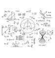 Hand drawn physics formulas Science knowledge vector image