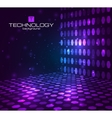 Abstract hexagonal background Retro disco stage vector image
