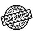 Crab Seafood rubber stamp vector image