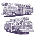 Firetruck drawings vector image
