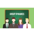 group dynamics concept in a team with vector image