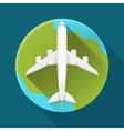Icon Flat Plane vector image