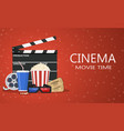 movie poster template vector image