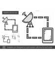 Satellite phone line icon vector image