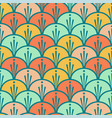 seamless scales colorful pattern vector image