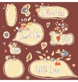 set of speech and thought blobs scrapbook design vector image