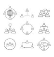 set of team work communication icons vector image