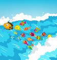 surf fish vector image