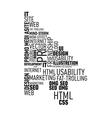 Web typograthy cursor cloud vector image