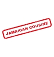 Jamaican Cousine Rubber Stamp vector image