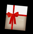 Shiny red ribbon background vector image