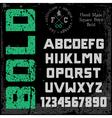Handmade retro font vector image vector image