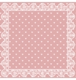 Lace net with heart pattern vector image vector image