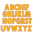 Yellow Textile Alphabet vector image
