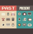 279retro and modern technology vector image vector image