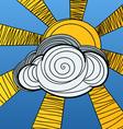 sun hides behind a cloud vector image vector image