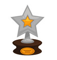 award star prize golden flat icon for vector image