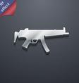 machine gun icon symbol 3D style Trendy modern vector image