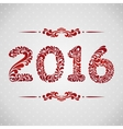 New Year 2016 greeting card vector image