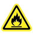 sign fire yellow vector image