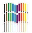 Coloring pencils vector image vector image