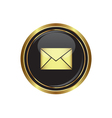 Mail icon on vector image