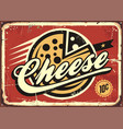 cheese vintage sign vector image vector image