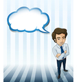 A man with an empty callout vector image vector image