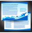 brochure airplane flight travel air fly airplane vector image vector image