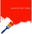 paintbrush painting vector image vector image