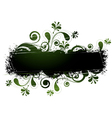 green floral design vector image vector image