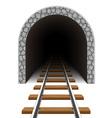 railway tunnel 03 vector image vector image