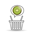 basket market sweet kiwi icon design vector image