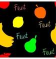 Black fruit Pattern vector image