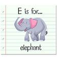 Flashcard alphabet E is for elephant vector image