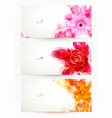 flowers and artistic blots vector image