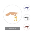 in flat style Hand with keys vector image