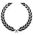 laurel wreath - symbol of victory and achievement vector image