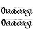 Oktoberfest beer festival Lettering text vector image