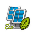 solar energy eco icon vector image