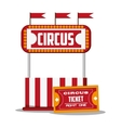 Ticket and banner of carnival design vector image