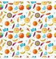 Umbrella seamless pattern vector image
