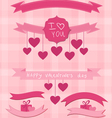 valentine ribbons vector image